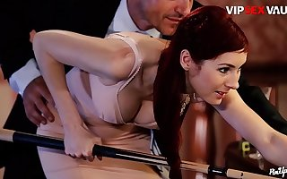 VIP Sexual intercourse VAULT - Erotic Sex On The Synthesize Game table With A Very Beautiful Indulge - Kattie Gold