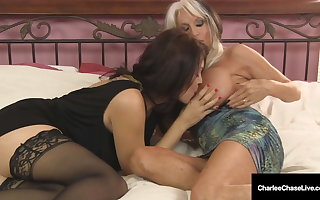 Big Teat Milfs Charlee Chase & Sally D'Angelo Drag inflate A Dick!