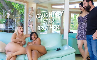 LETSDOEIT - Natalia Starr & Jenna Foxx Hot Sex With Stepbro
