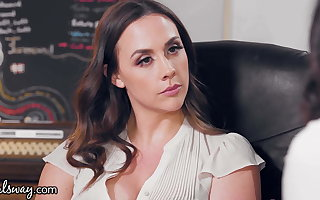 GIRLSWAY, An Office Ladies Fight Gets Chanel Preston Pledged