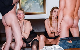 AmateurEuro - Erna & Liss Longlegs Hot 4some About Their Guys