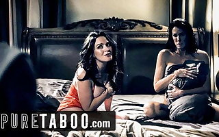 PURE TABOO Step-Son Wants alongside Have Sex with Lesbian Step-Moms
