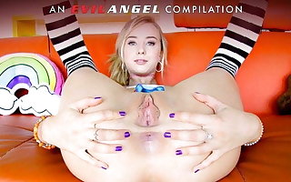 EvilAngel - Wild Gaping & Ass Going to bed Compilation