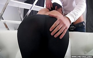 FirstAnalQuest.com - Fundamentally PORN WITH A SEXY RUSSIAN TEEN IN Miserly LEGGINGS