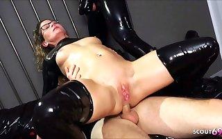 Real German teacher Izzy Mendosa loves an anal BDSM latex trinity
