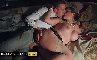 Busty Milf Cathy Heaven Investigates Danny's Big Cock