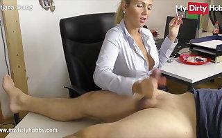 MyDirtyHobby - Smoking sob sister gives her boss a handjob