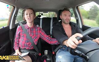Fake Driving School Student Buys Instructor Emilia Argan