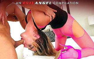 EvilAngel - Deepthroats, Gag Reflex & Facials Compilation