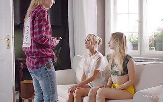 WOWGIRLS Nancy A, Jade and Anna Di in Embrace b influence Threesome