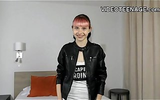 close by nearly 18 era old punk teen does sly porn casting