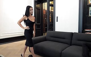 Escort Casting - Dark Hair Big Breast Romanian Nelly Kent Gets Put On Advanced position