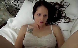 Mom & Son Share a Adjoin - Mom Wakes Up to Son Masturbating - POV, MILF, Family Sex, Mother - Christina Sapphire