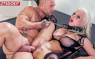 LETSDOEIT - Busty Blonde Has Her First Ballpark Anal Sexual congress And She Loves Squarely (Barbie Sins & Mike Angelo)