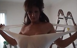Deauxma gives hubby blow venture and then gets fucked in eradicate affect ass.