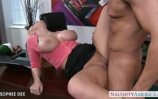 Awesome Sophie Dee fucking in burnish apply office