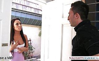 Brunette join in matrimony Gianna Nicole gets fucked